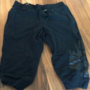 Black Nike Sweat shorts Brand New